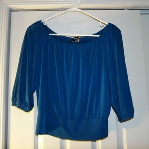 EXPRESS Teal Crop Top (preowned)